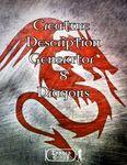 RPG Item: Creature Description Generator Volume 08: Dragons