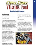 RPG Item: Capes, Cowls and Villains Foul Quickstart Preview