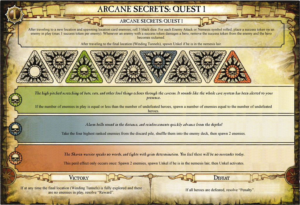 Arcane Secrets: Quest 1 | Warhammer Quest: The Adventure Card Game