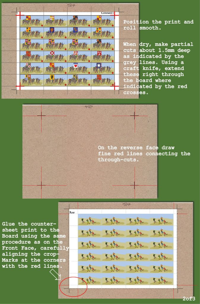 Method Of Making Double Sided Counters