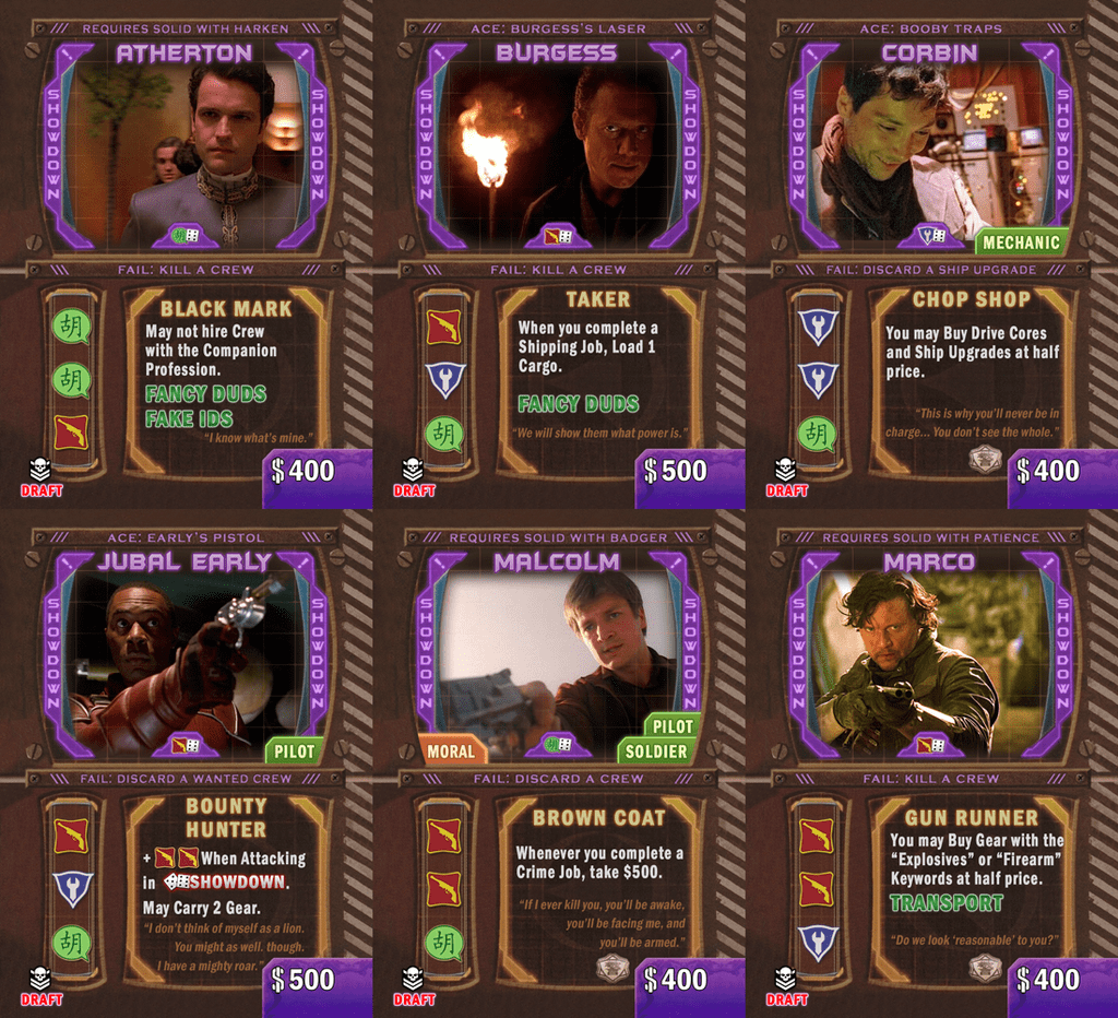 The Fallen - Leaders as Crew 1 0 Release | Firefly: The Game
