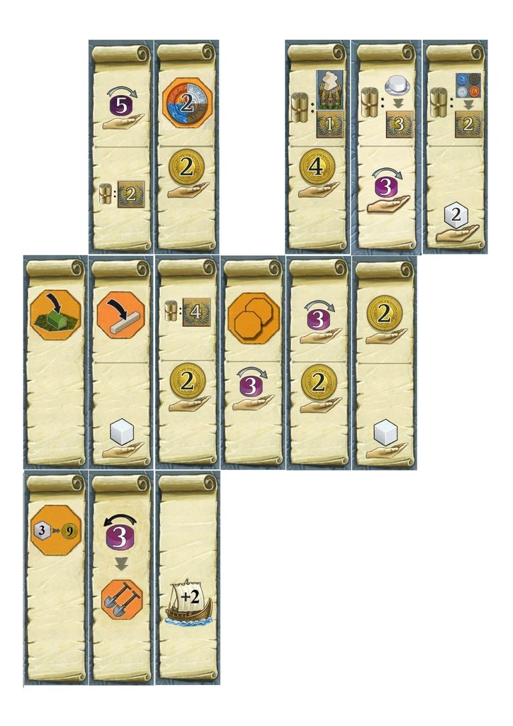 Additional round bonus tiles | Terra Mystica | BoardGameGeek