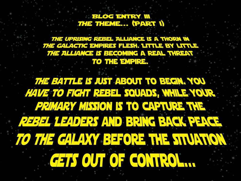 The theme… (part 1) | Pandemic - A Star Wars re-rheme