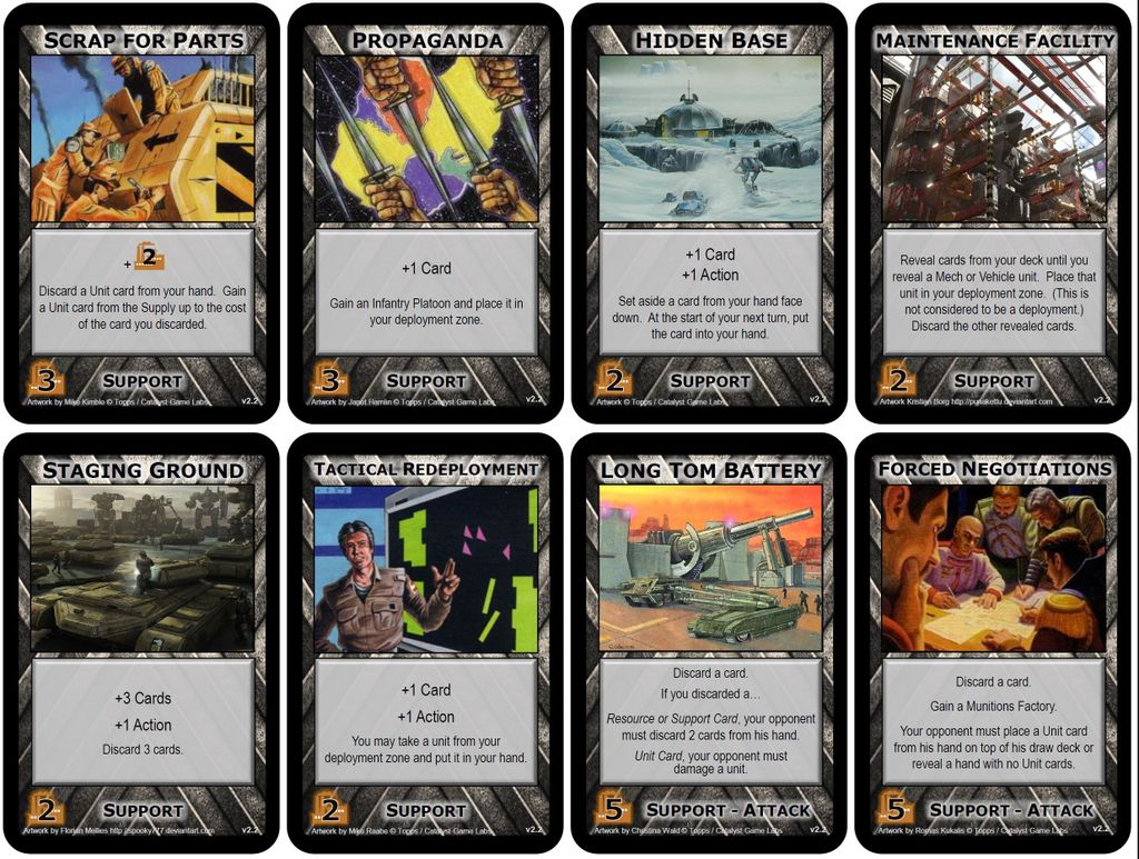 LE Uncommon cards 3/4 Battletech ccg Limited