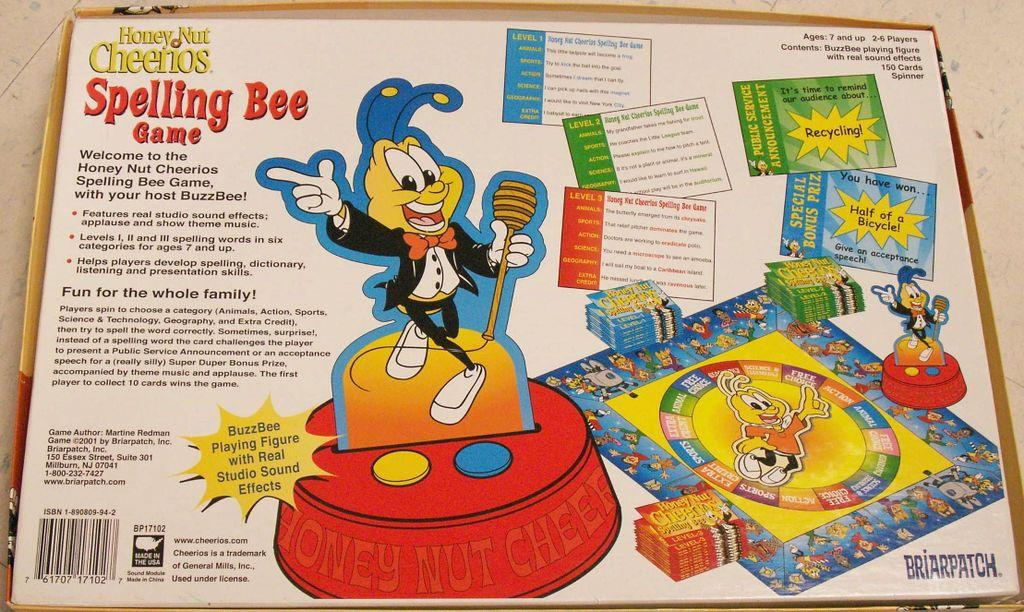 Honey Nut Cheerios Spelling Bee Game | Image | BoardGameGeek