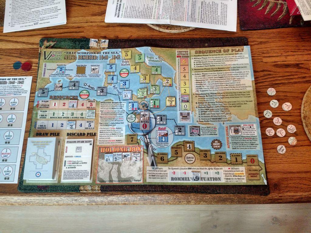 Board Game: Malta Besieged: 1940-1942