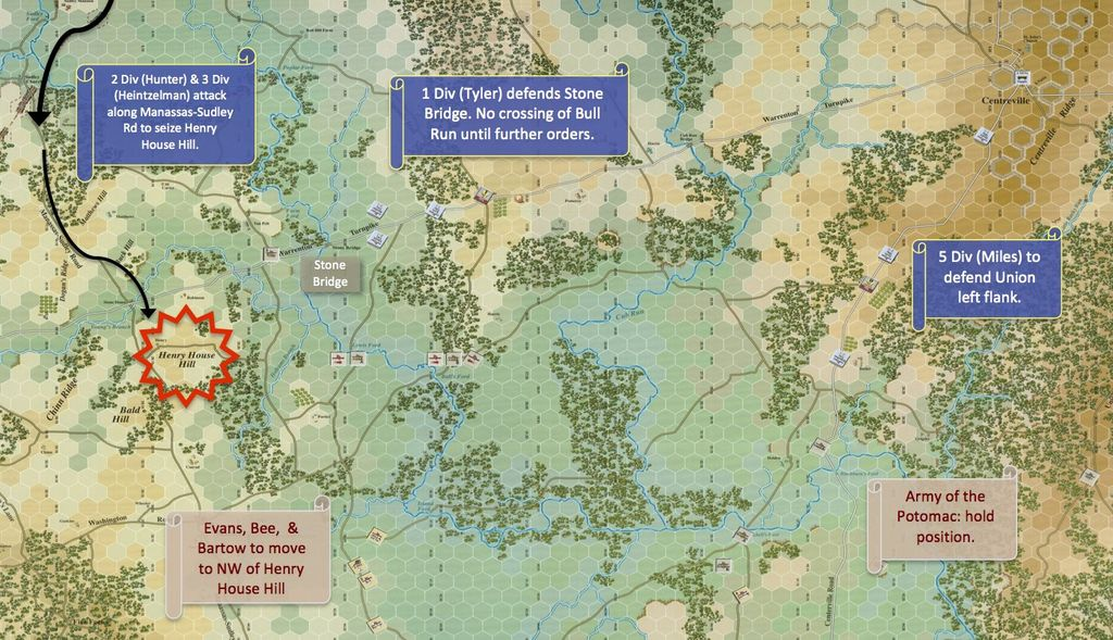 First Bull Run Game Report - Scenario 6.3 from Clash of ... on