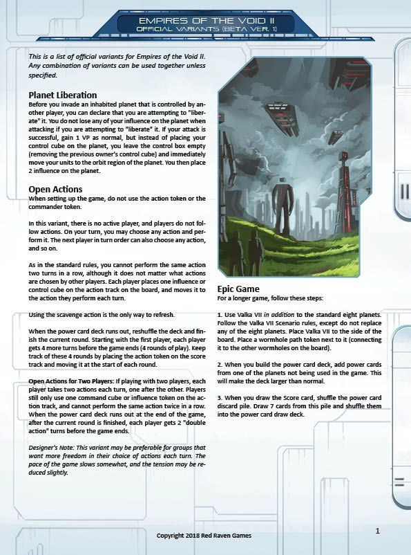 Official Variant Sheet Empires Of The Void Ii Boardgamegeek