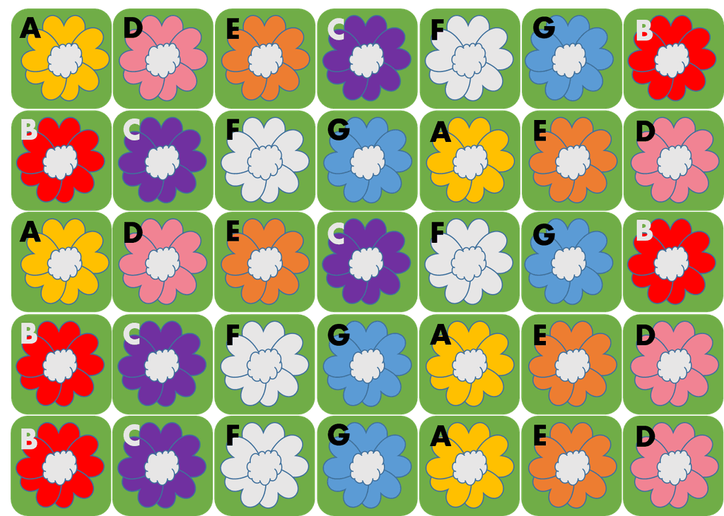 WIP] Picking Daisies - 2017 Children's Game Print and Play Design