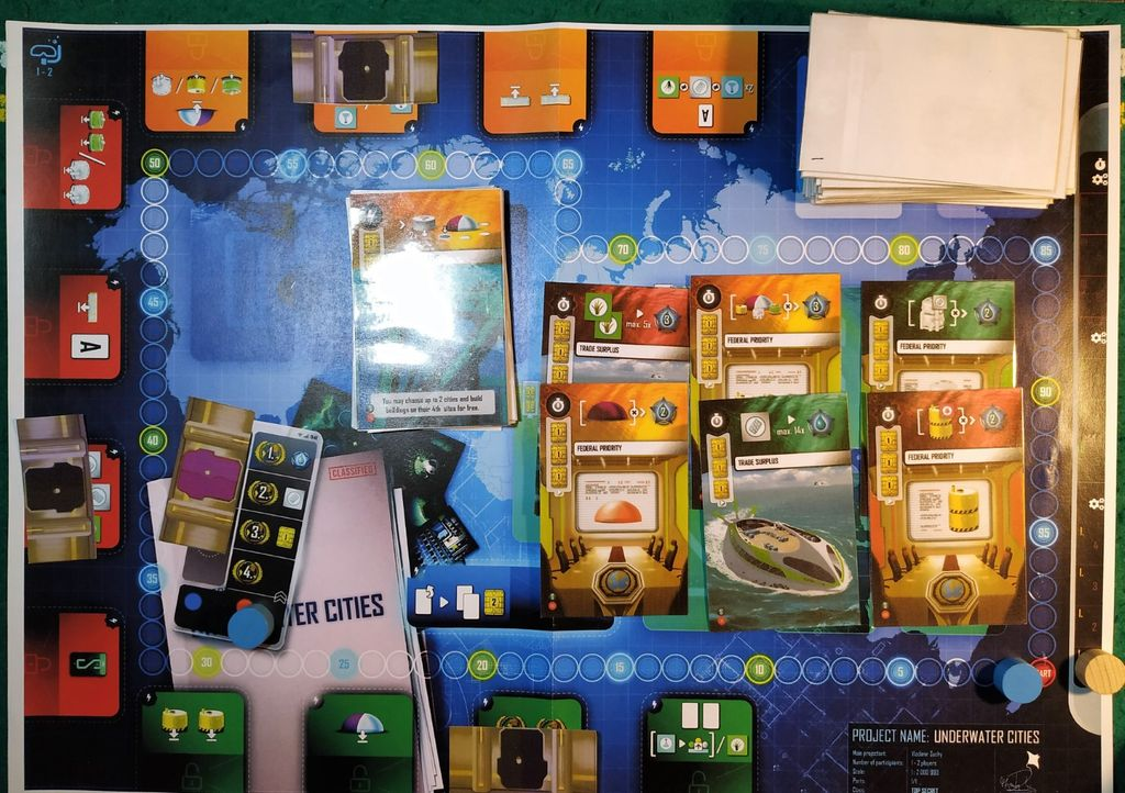 First Solo Play | Underwater Cities | BoardGameGeek