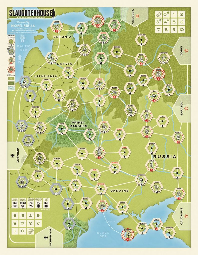 Board Game: Four Roads to Moscow