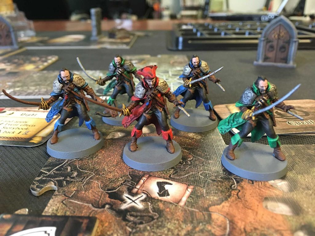 Worked hard at getting enough minis painted up for a tutorial, although I  didn't finish them yet: