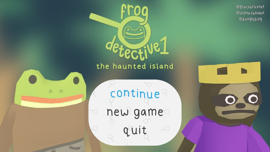 Video Game: The Haunted Island, a Frog Detective Game