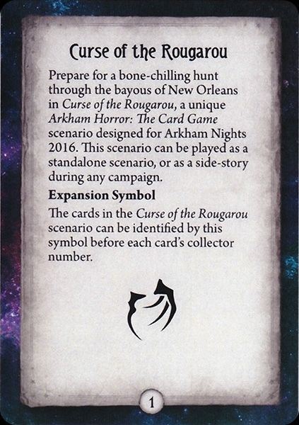 Curse of the Rougarou - Rules and Resolutions on cards   Arkham