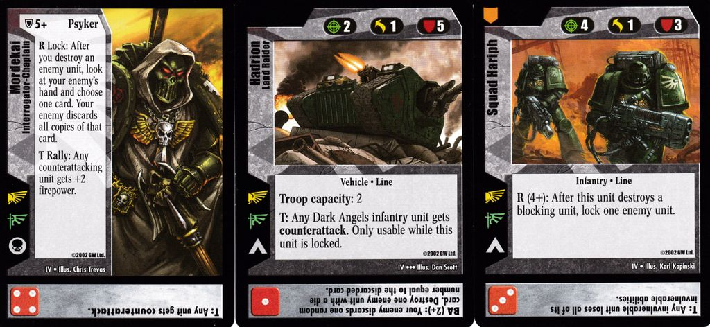 Warhammer 40K CCG Battle for Delos V Uncommon Cards Part 1//3 WH40k