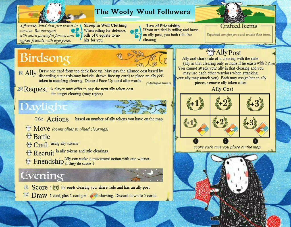 Fan Faction Idea-Wooly Wool Followers | Root | BoardGameGeek