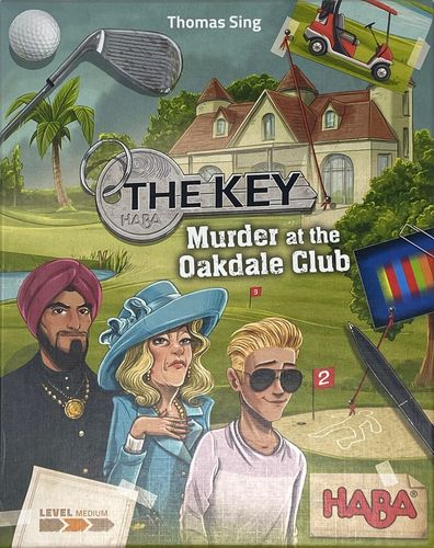 Board Game: The Key: Murder at the Oakdale Club