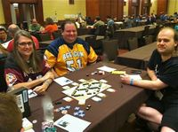 """BGG """"Brass"""" gives Last Spike a try at BGGfamilyCon."""