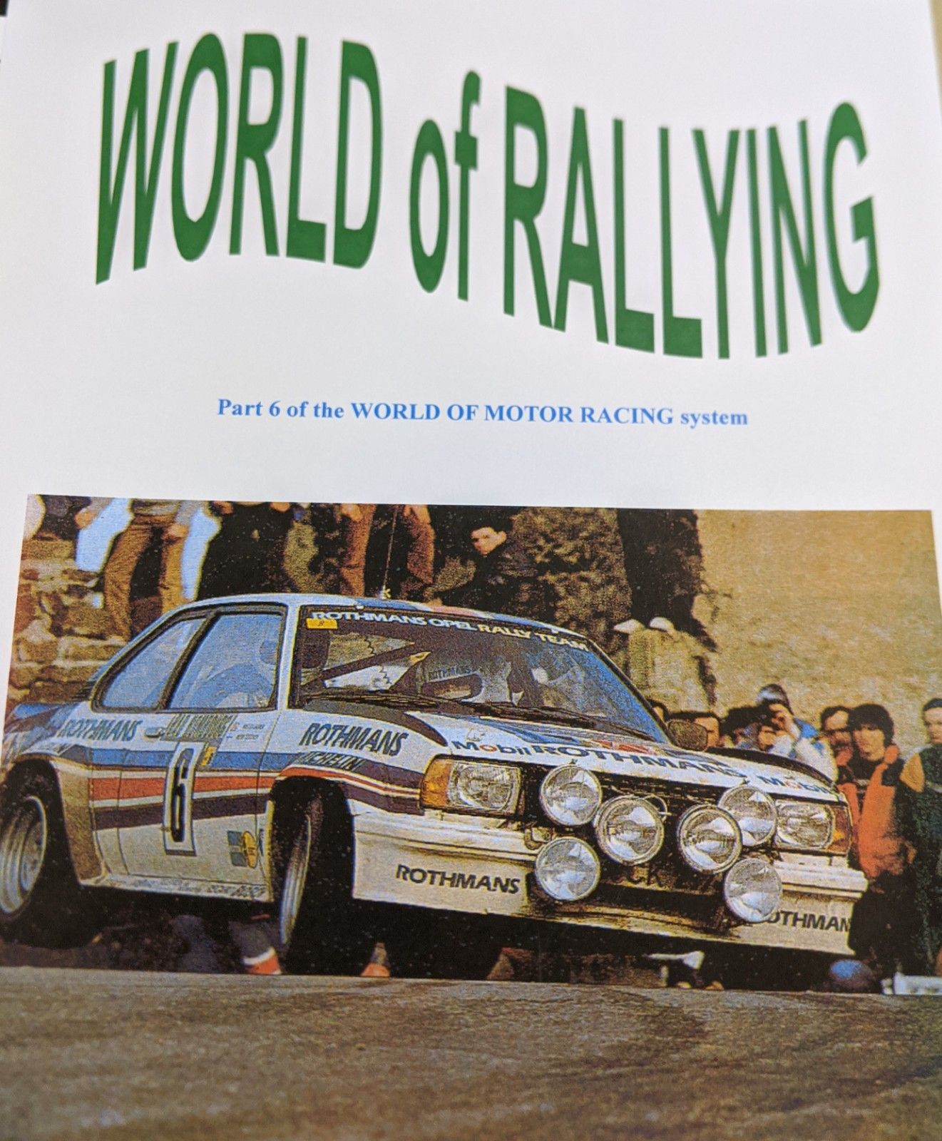 World of Motor Racing: World of Rallying