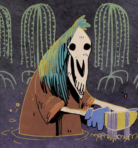 Marsh Spirit card art from Oath the Board Game, Artist: Kyle Ferrin