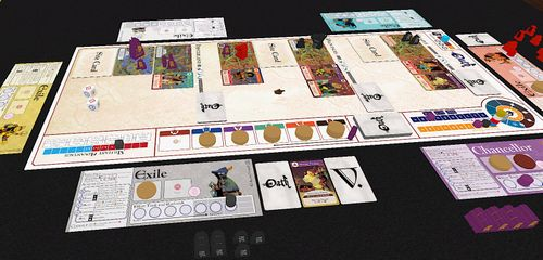 An early iteration of Oath: Chronicles of Empires and Exile on Tabletop Simulator