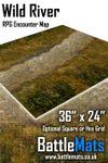"RPG Item: Wild River 36"" x 24"" RPG Encounter Map"