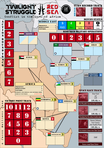 Board Game: Twilight Struggle: Red Sea – Conflict in the Horn of Africa