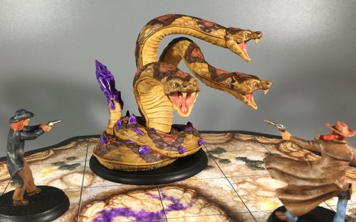 Board Game: Shadows of Brimstone: Dark Stone Hydra XL Enemy Pack