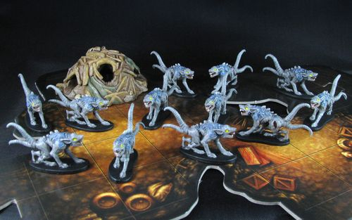 Board Game: Shadows of Brimstone: Scourge Rats / Rats Nest Enemy Pack