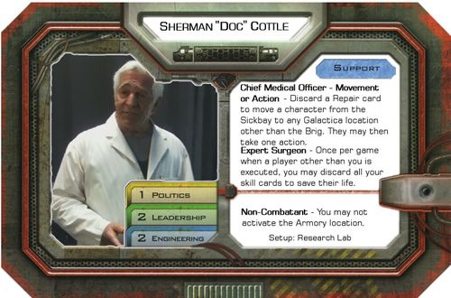 Doc Cottle Character Battlestar Galactica The Board Game Exodus - Doc games