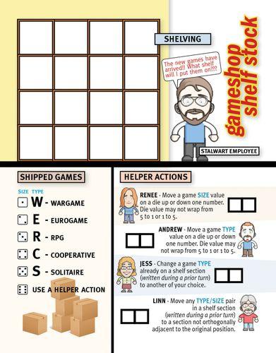 Board Game: Gameshop Shelf Stock