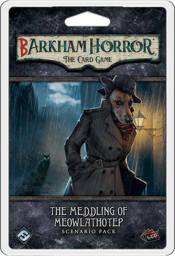 Board Game: Barkham Horror: The Card Game – The Meddling of Meowlathotep: Scenario Pack