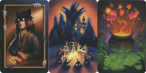 """Board Game: Dixit: """"The Werewolves of Miller's Hollow: The Pact"""" Promo Card Pack"""