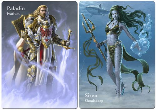 Board Game Accessory: Mage Wars Arena: Paladin vs Siren – Alternate Art Mages