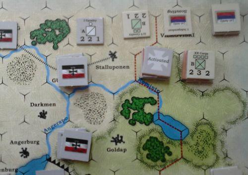 GS SR 002f – German I Corps attack – the Russian XX Corps retreats