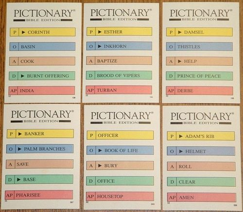 This is a photo of Nerdy Pictionary Cards Printable
