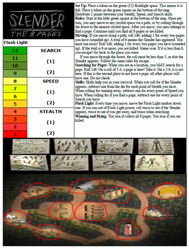 Board Game: Slender: The 8 Pages