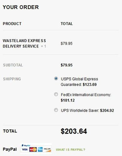What´s the matter with shipping prices ? | Wasteland Express