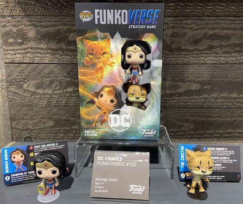 Board Game: Funkoverse Strategy Game: DC Comics 102 – Wonder Woman & Cheetah