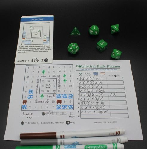 Board Game: Polyhedral Park Planner: Convention Season