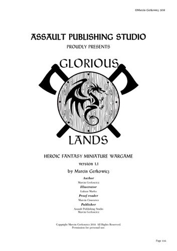 Board Game: Glorious Lands: Heroic Fantasy Miniature Wargame