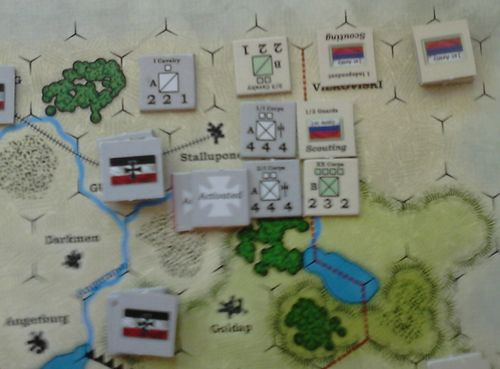 GS SR 002a – German I Corps attacks Russian XX Corps & cavalry screen in front of Stalluponen