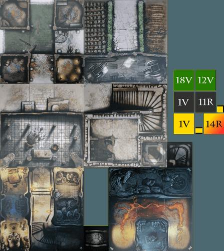 Zombicide: Green Horde | Green Horde Tile Set (for Zombicide