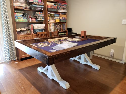 Board Game Table Vault Neoprene Topper Diy Farmhouse Base