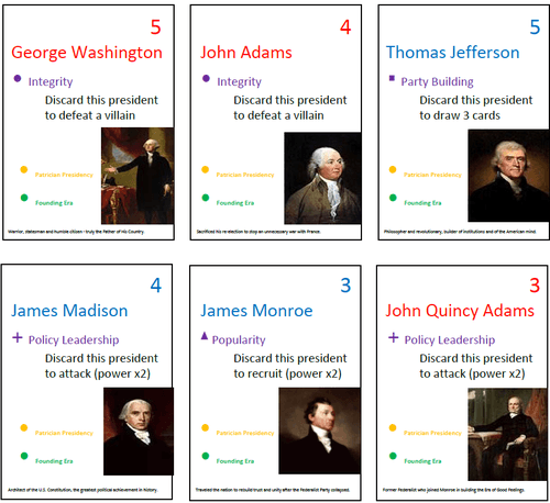 Board Game: Presidents versus Trump