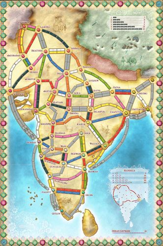 Ticket To Ride India Map.Ticket To Ride Too Many Games Boardgamegeek