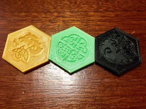 3D Printed Control Markers | War Chest | BoardGameGeek