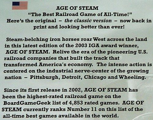 So you're wondering about the third edition of Age of Steam