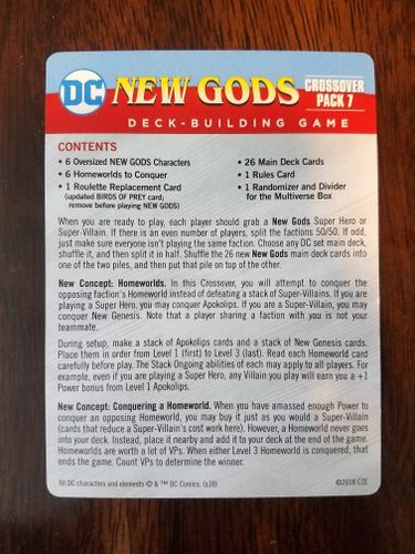 DC Crossover Pack 7, New Gods: An Epic Addition to the Base