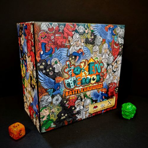 5x5x3 inches, a small box PACKED with minis.